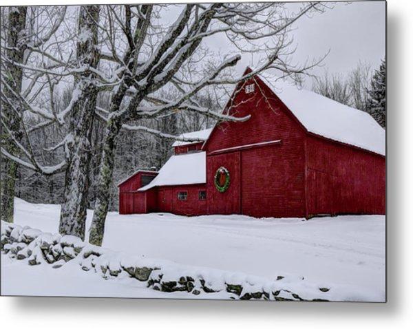 Winter Barn Metal Print