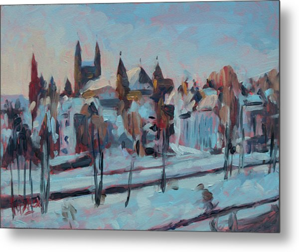 Winter Basilica Our Lady Maastricht Metal Print
