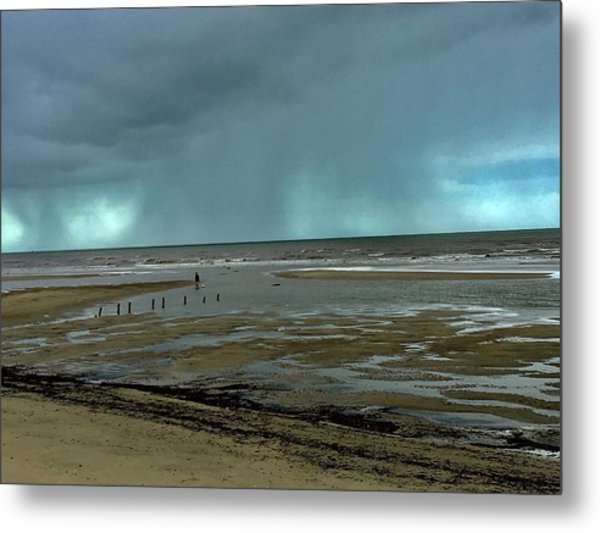 Metal Print featuring the photograph Winter Beach by Debbie Cundy