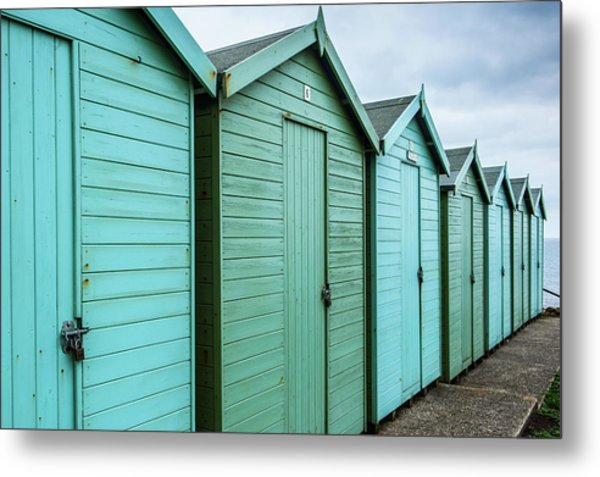 Winter Beach Huts IIi Metal Print