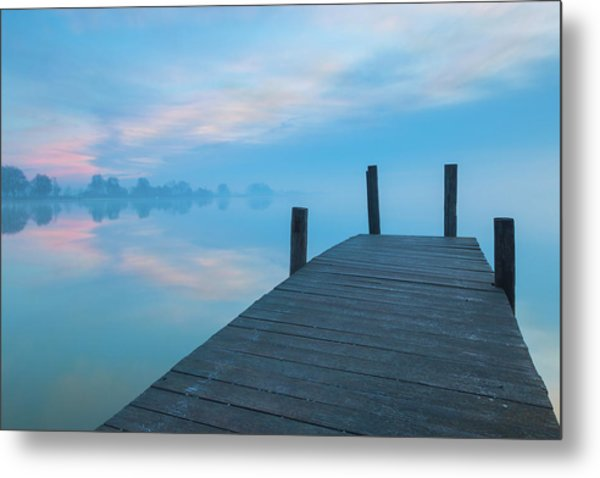 Metal Print featuring the photograph Winter Blues by Davor Zerjav