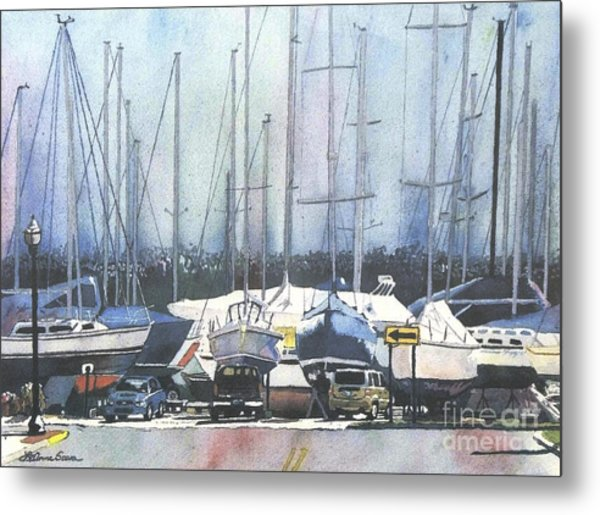 Winter Blues, Sal Boats, Boating Paintings, Boat Paintings, Boat Prints Metal Print