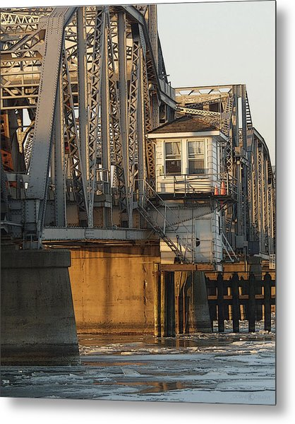 Winter Bridgehouse Metal Print
