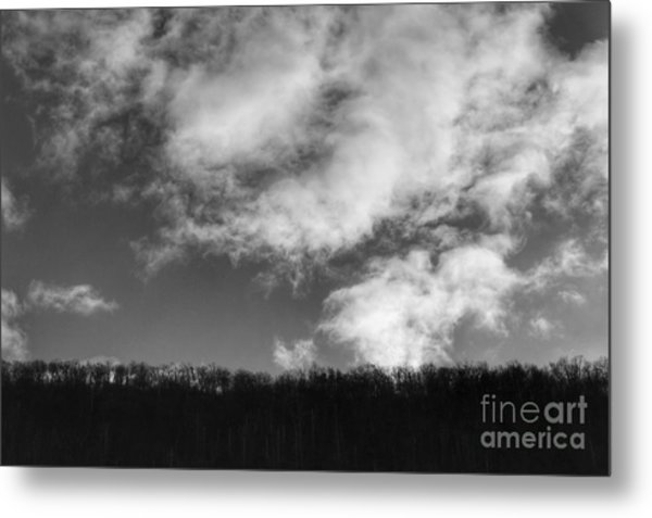 Winter Clouds Over The Delaware River Metal Print