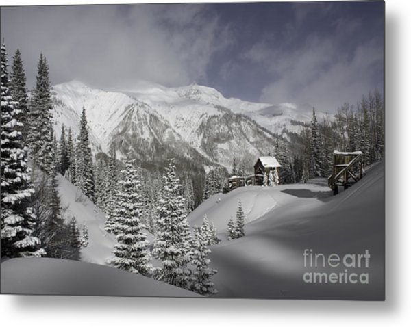 Winter Comes Softly Metal Print