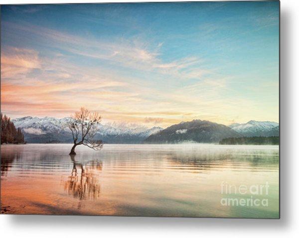 Winter Dawn, Lake Wanaka Otago Nz 2 Metal Print