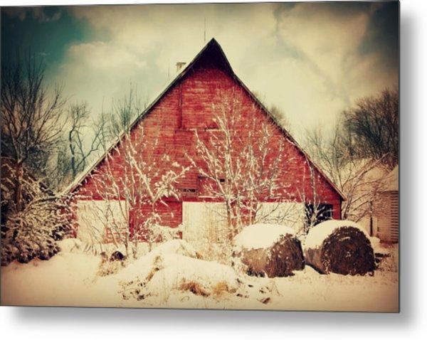 Winter Day On The Farm Metal Print