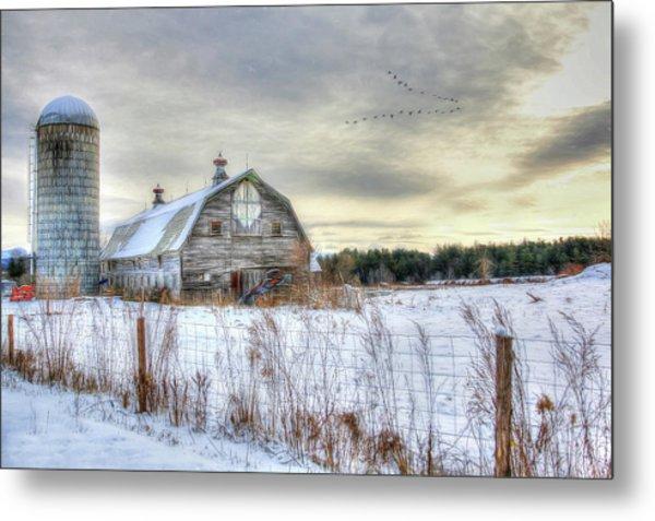 Winter Days In Vermont Metal Print