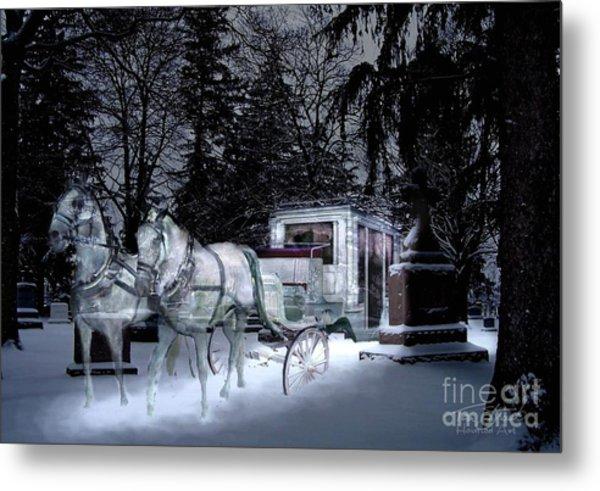 Winter Departure   Metal Print by Tom Straub