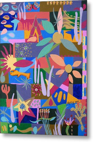 Winter Dream Of Flowers Metal Print