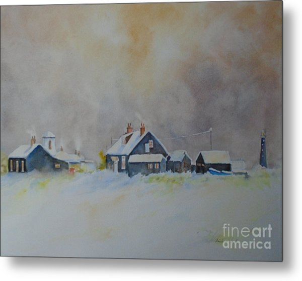 Winter Dungeness Metal Print