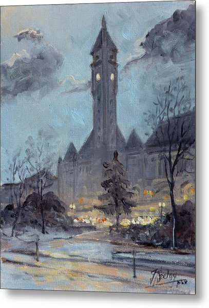 Winter Dusk - Union Station Metal Print