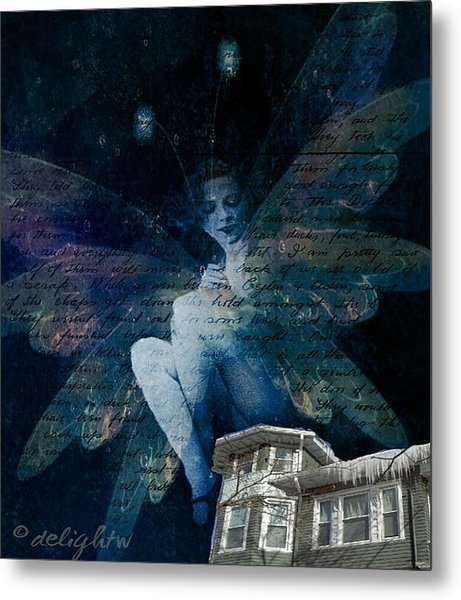 Metal Print featuring the digital art Winter Fairy by Delight Worthyn