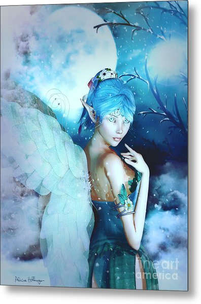 Winter Fairy In The Mist Metal Print