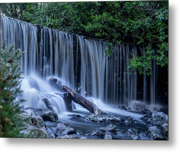 Winter Fall At Crumlin Glen Metal Print