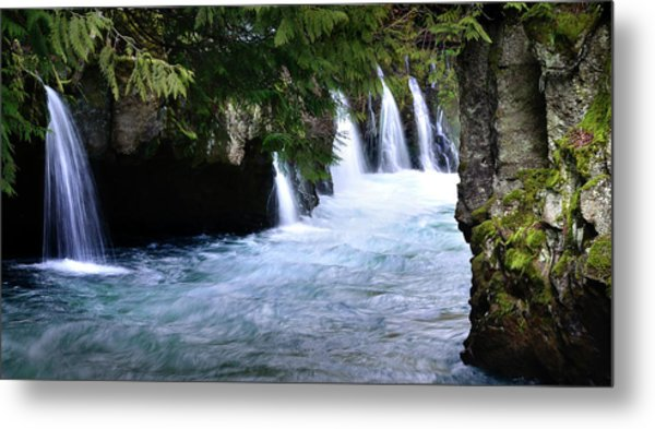 Winter Falls On The White Salmon Metal Print by Kevin Felts