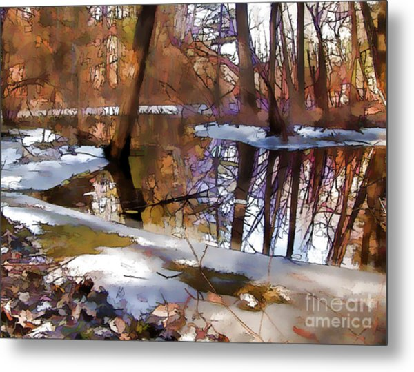 Winter Farewell Metal Print