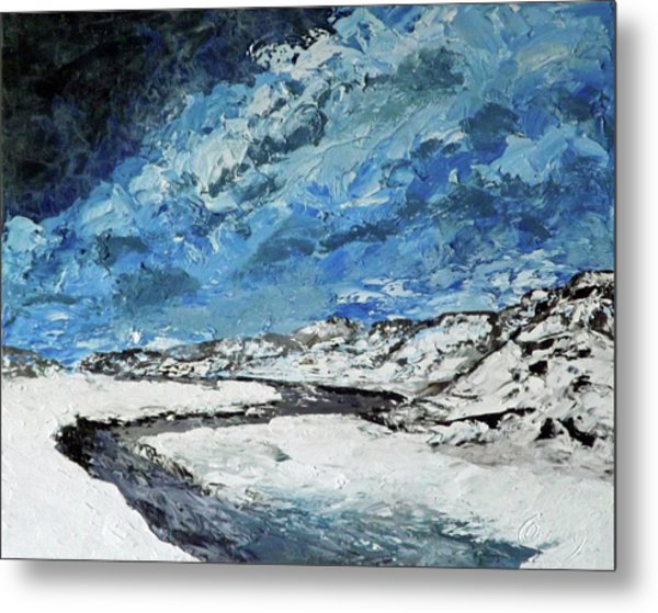Winter Filled Arroyo Metal Print