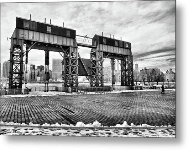 Winter Gantry Metal Print
