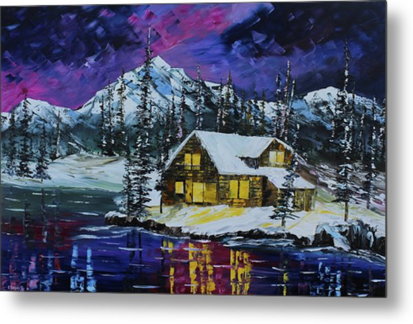 Metal Print featuring the painting Winter Getaway by Kevin Brown