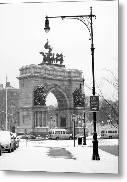 Winter Grand Army Plaza Metal Print
