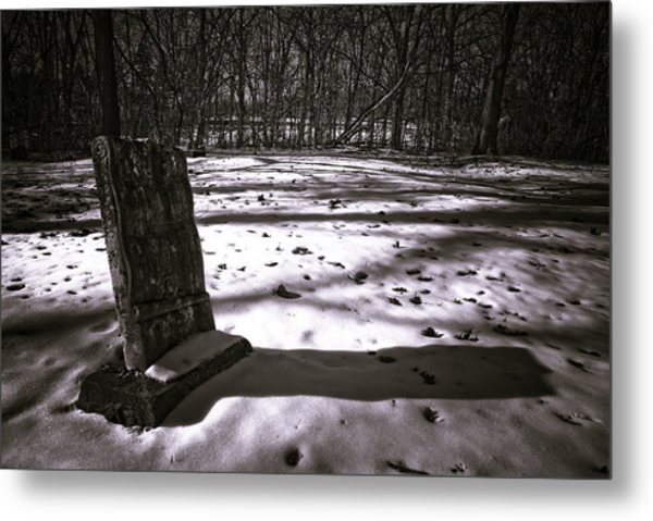 Winter Grave Metal Print by George Christian