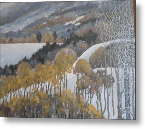 Winter Hills Metal Print by Giacomo Alessandro Morotti