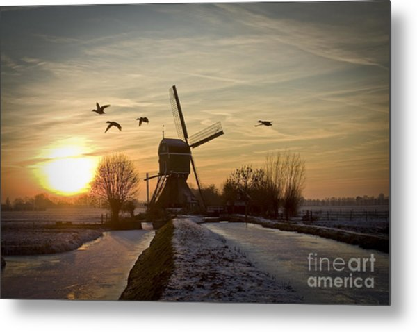 Winter In Holland-2 Metal Print