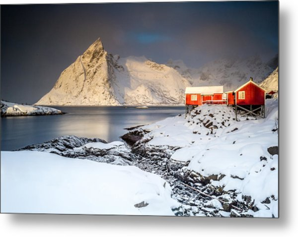 Winter In Lofoten Metal Print