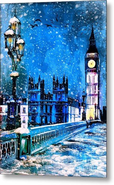 Winter In London  Metal Print