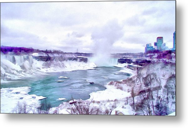 Winter In Niagara 1 Metal Print