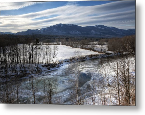 Winter In North Conway Metal Print