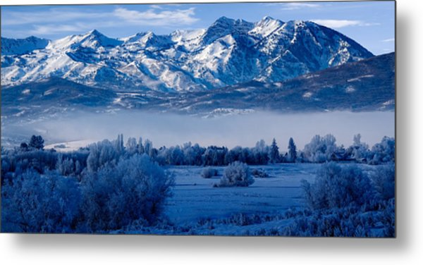 Winter In Ogden Valley In The Wasatch Mountains Of Northern Utah Metal Print