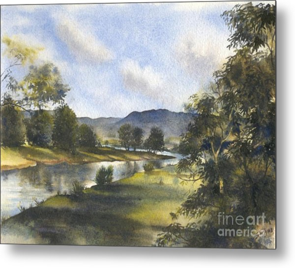 Winter In The Bellinger Valley Metal Print