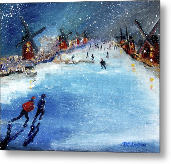 Winter In The Netherlands Metal Print