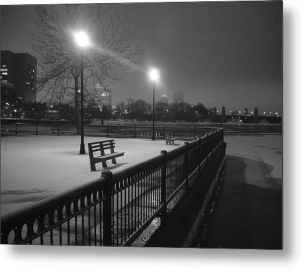 Winter In The Park Metal Print by Eric Workman