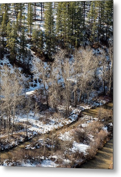 Winter In The Susan River Canyon Metal Print