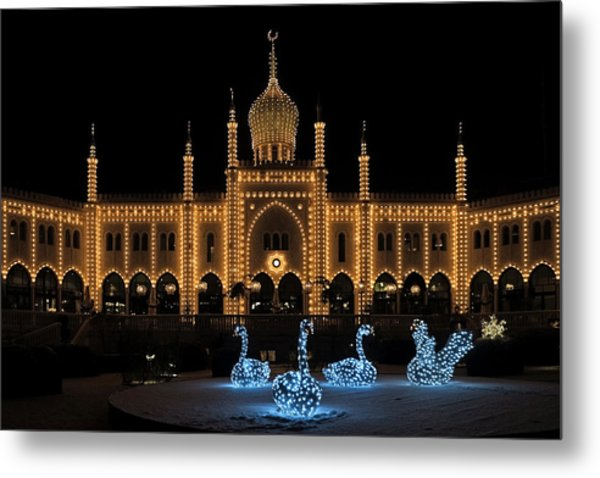 Winter In Tivoli Gardens Metal Print