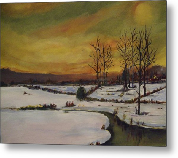 Winter In Upstate New York Metal Print