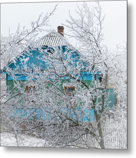 Winter In Village. Shchymel, 2014. Metal Print