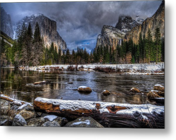 Winter In Yosemite Valley Metal Print