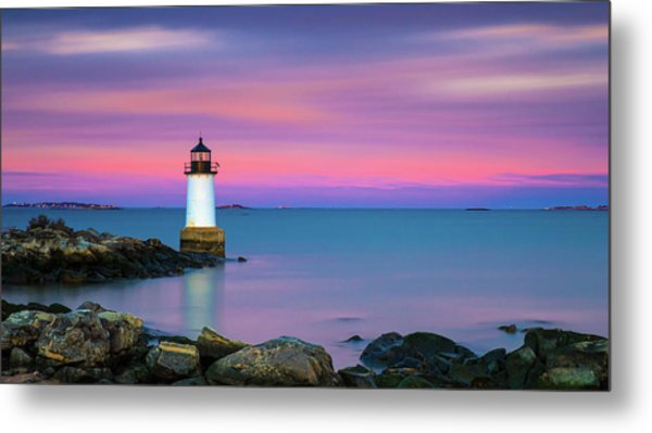 Winter Island Light 1 Metal Print