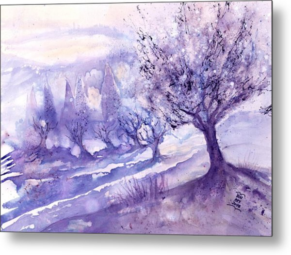 Winter Landscape Early Morning  Metal Print