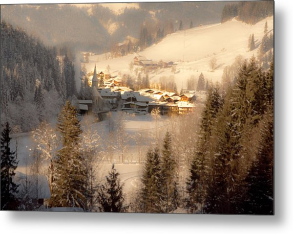 Winter Landscape Salzburger Land Metal Print