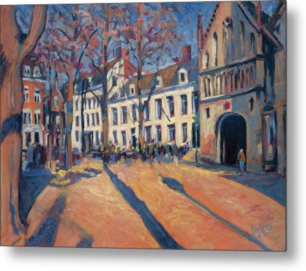 Winter Light At The Our Lady Square In Maastricht Metal Print