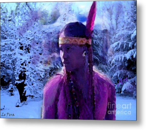 Winter Maiden Metal Print by Le Pera