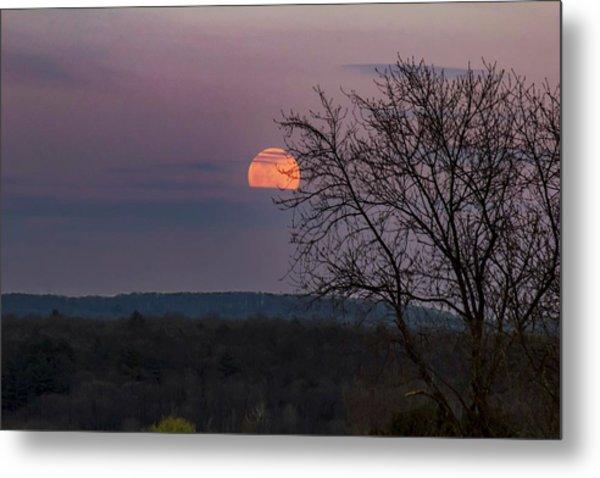 Metal Print featuring the photograph Winter Moonrise by Sven Kielhorn