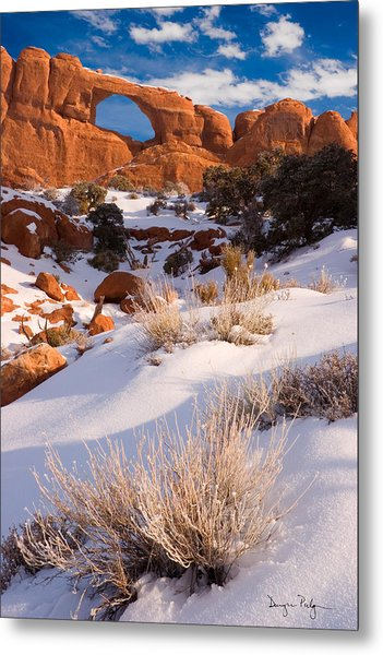 Winter Morning At Arches National Park Metal Print by Douglas Pulsipher