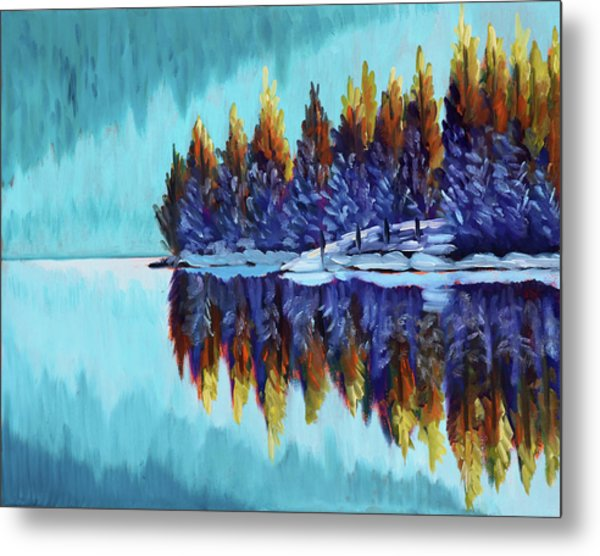 Winter - Mountain Lake Metal Print