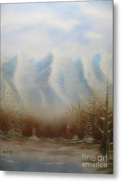 Winter Mountains Metal Print by Todd Androy